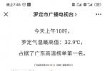 昨天上午,罗定气温全省最高