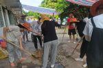 再次探访水贵康复村,遇见广州大学生志愿者铺地坪