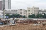 龙城乐园文化广场施工现场