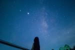 昨晚份星空,金银河。手机拍摄。