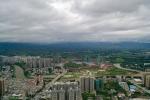 台风来临前的罗城上空