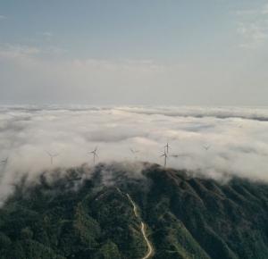 宅在家中就欣赏下风车山的云海吧