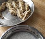 午餐(白粥搭配自做的饺子)