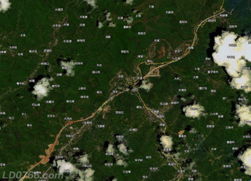 罗信高速【信宜段】8月8日卫星图