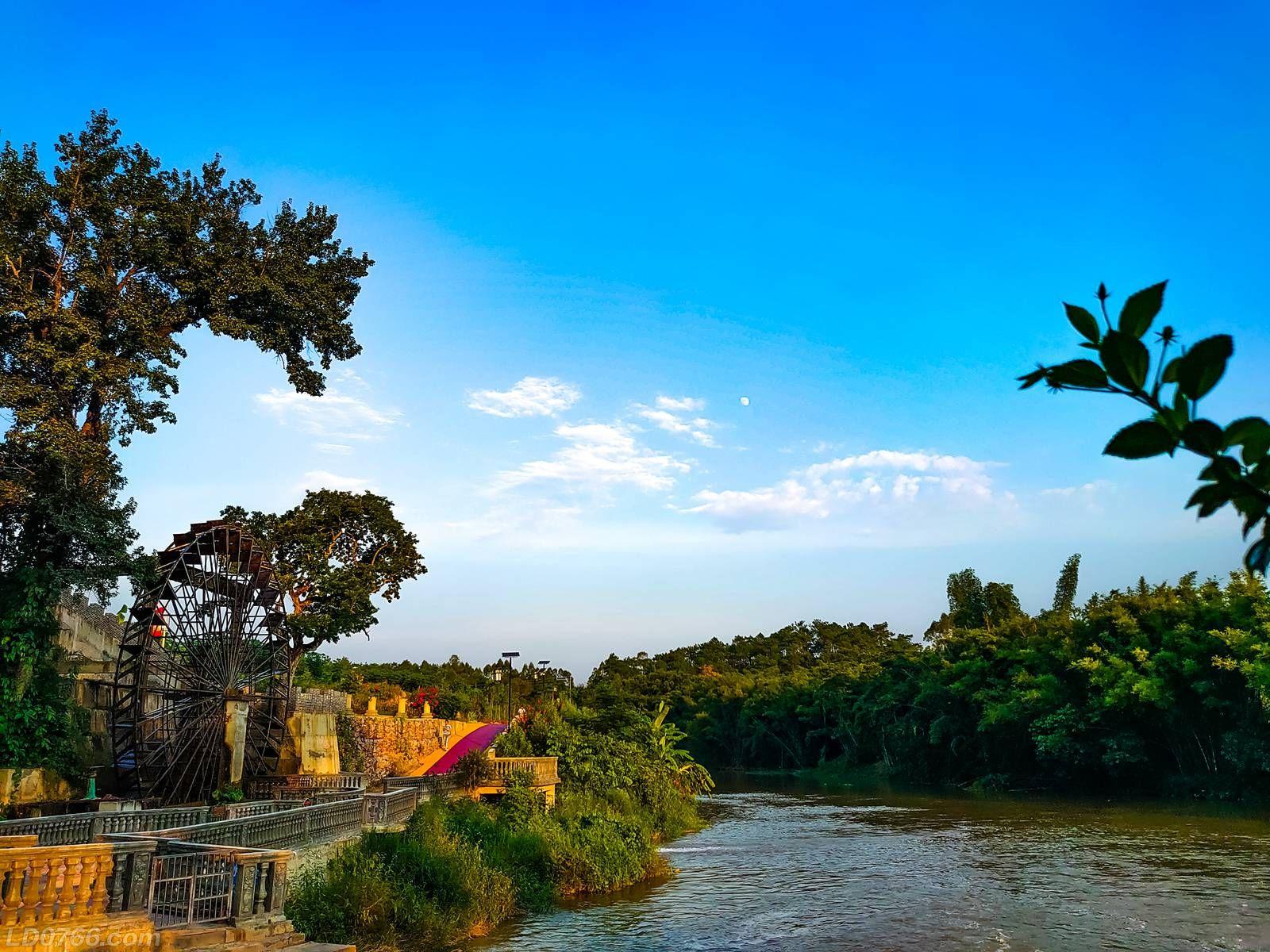 罗定黎少田心牛角坝,美丽乡村的模范